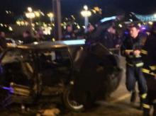 ანჩისხატის ეკლესიასთან მომხდარი ავარიის ფოტო-ვიდეო კადრები