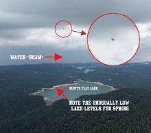 აშშ-ში მფრინავმა თეფშმა ტბის წყალი შეისრუტა