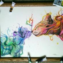 17 წლის, თვითნასწავლი მხატვარი გოგონას საოცრად ლამაზი ნახატები..