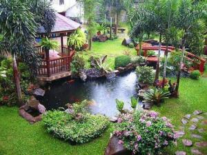 35 საოცარი იდეა – ბაღისა და ეზოს დიზაინი პატარა აუზებითა და ფანტანებით