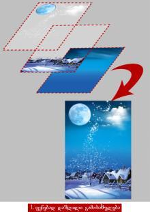 ფენების არსი და პალიტრა Layers. ფენები.  (Photoshop CS 4 & 5)