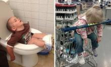 ფოტოები რომლებიც ადასტურებენ რომ, ბავშვებს ყველგან შეუძლიათ დაიძინონ