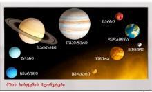 მზის სისტემა. თავი I -  სამყარო და დედამიწა. ზოგადი გეოგრაფია. დამხმარე სახელმძღვანელო აბიტურიენტებისთვის