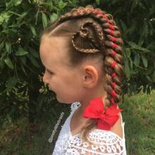 25 საოცარად ორიგინალური თმის ვარცხნილობა პატარა გოგონებისთვის
