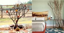 როგორ გამოვიყენოთ ხის ტოტები ოთახის დეკორაციაში - მარტივი და ულამაზესი იდეები!