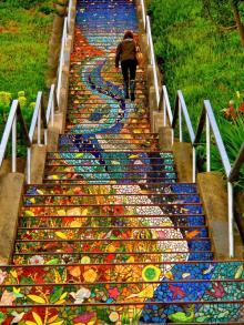 ულამაზესი კიბე-მაქცია  სან - ფრანცისკოს  მნიშვნელოვანი  ღირსშესანიშნაობა გახდა