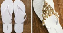 """როგორ გადავაქციოთ უბრალო """"შლოპანცები"""" დიზაინერულ ფეხსაცმლად - 10 უმარტივესი იდეა"""