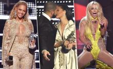 რიანას და  დრეიკის კოცნა, ბრიტნი  სპირსის  შოუ  და MTV VMA 2016 - ის სხვა ნათელი  მომენტები