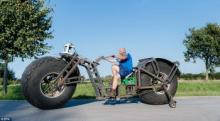 გერმანელი კაცი, რომელმაც ყველაზე მძიმე ველოსიპედი შექმნა გინესის რეკორდის დამყარებას აპირებს