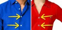 რატომ აქვს ქალის და მამაკაცის პერანგებს ღილები სხვადასხვა მხარეს - ეს ბევრმა არ იცის!