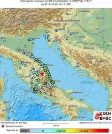 იტალიაში კიდევ ერთი  ძლიერი მიწისძვრა მოხდა
