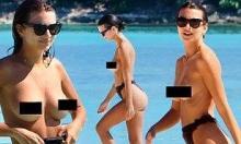 ემილი რათაჯკოვსკი მეგობრებთან ერთად სანაპიროზე ბიუსჰალტერის გარეშე დააფიქსირეს