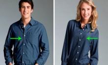 რატომ აქვს მამაკაცის პერანგს ღილები მარჯვნივ, ქალისას კი მარცხნივ?