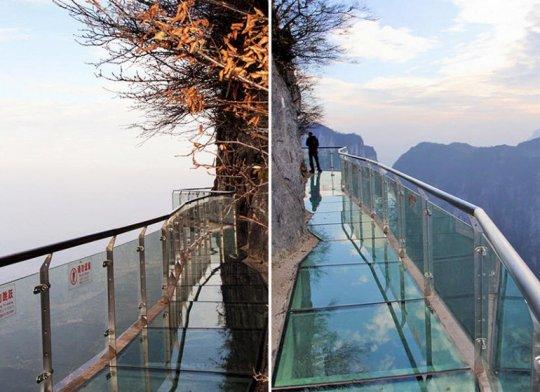 ჩინეთში ცაში გამოკიდებული მინის ხიდი პირდაპირ ტურისტების თვალწინ დაიმსხვრა