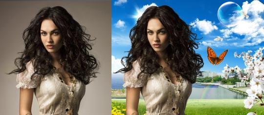 რთული გამოყოფა. (Photoshop CS 4 & 5)