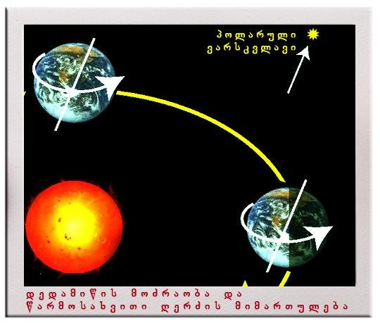 დედამიწის დღე–ღამური და წლიური მოძრაობა