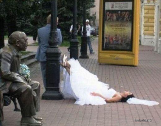 პატარძლები,რომლებიც საკუთარ ქორწილში გამოთვრნენ