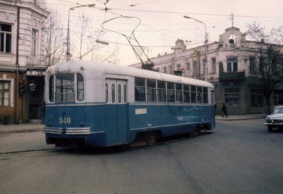 თბილისი,ტრამვაი გადასასვლელ ხიდთან -1976 წელი