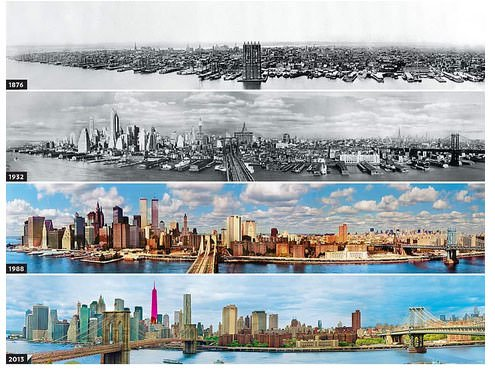 ნიუ იორკის ევოლუცია წლების განმავლობაში