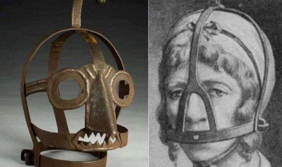 შუა საუკუნეების დროინდელი ნიღაბი, რომლითაც სჯიდნენ ჭორიკანა ქალებს.