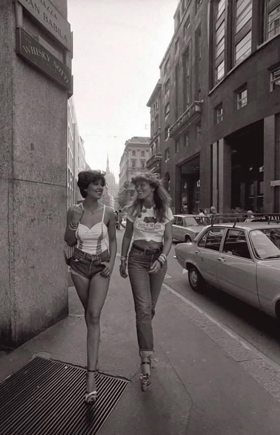 იტალიური ქუჩის მოდა. მილანი 1977 წელი
