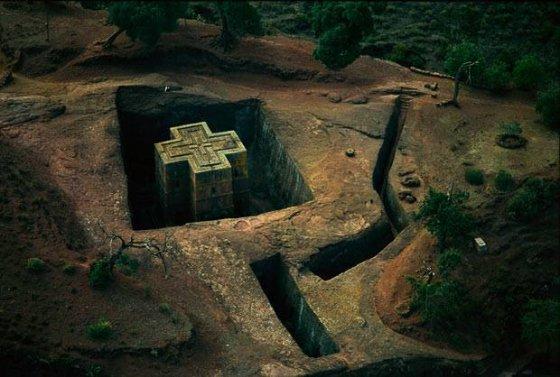 ქრისტიანული ტაძარი ეთიოპიაში.