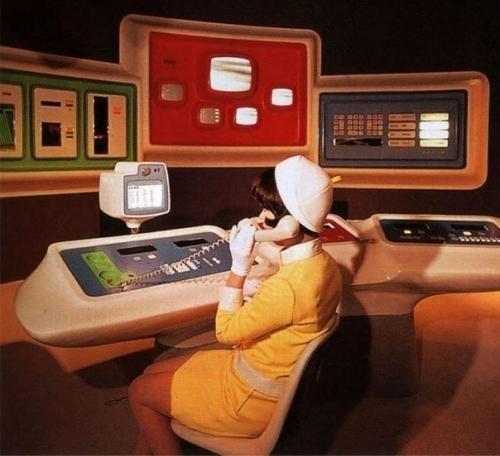 ასე წარმოედგინათ მომავლის ოფისი-მსოფლიო გამოფენა ნიუ-იორკში-1964 წელი
