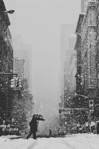 თოვა ნიუ-იორკში.