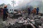 სამხედრო თვითმფრინავი საცხოვრებელ კვარტალს დაეცა(ინდონეზია)