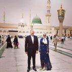 აზერბაიჯანის პრეზიდენტი მეუღლესთან ერთად
