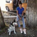 მაგარი ძაღლი უმაგრეს გოგოსთან