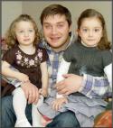 ბაჩო ქაჯაია შვილებთან ერთად