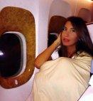 ქეთა თოფურია თვითმფრინავში