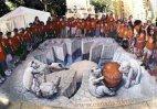 ქუჩაში შესრულებული 3D ნახატი