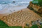 ეს ადამიანი სანაპიროზე ხატავს და ნამდვილ შედევრს ქმნის !