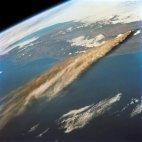 ვულკანის ამოფრქვევა კოსმოსიდან