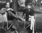 """ოდრი ჰეპბერნი და ჰამფრი ბოგარტი """"საბრინას"""" გადაღების დროს-1954 წელი"""