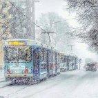თოვლი ნორვეგიაში. რა სილამაზეა..