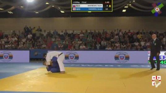 Shakhbazov (RUS) -Tushishvili (GEO) + 100 კგ FINAL ევროპის ჩემპიონატი