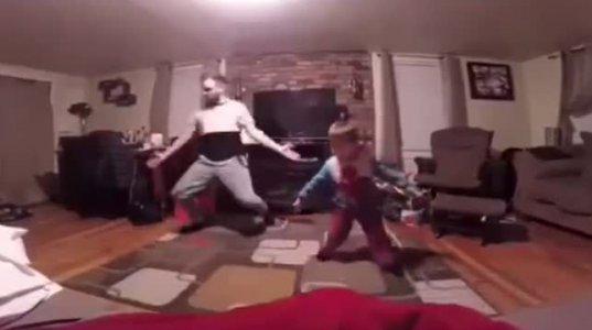 ყველაზე ენერგიული მოცეკვავე მამა - შვილი