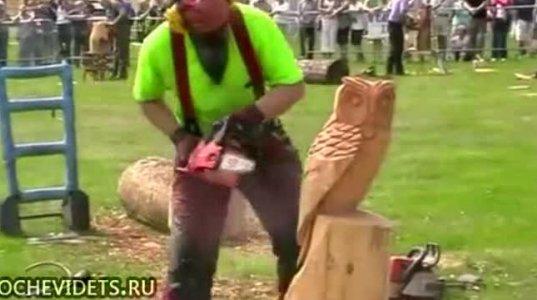 """""""ბენზოხერხის"""" დახმარებით ხეზე კვეთით შექმნილი საოცარი ნიმუშები"""