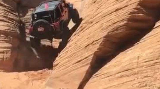 ნახეთ სად ავიდა ეს მანქანა