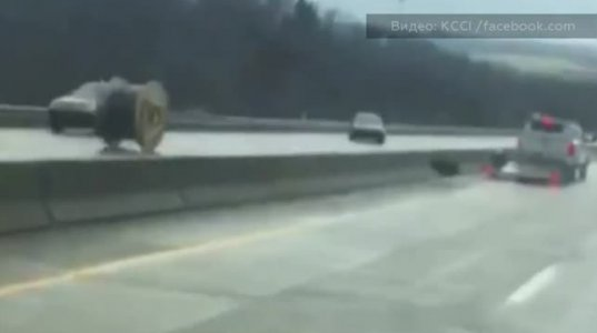 სატვირთოდან  ჩამოვარდნილმა კაბელის კოჭმა კინაღამ მანქანები შეიწირა-აშშ