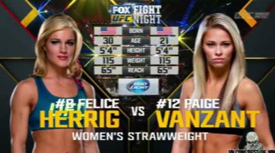 Paige Vanzant vs Felice Herrig - ბრძოლა