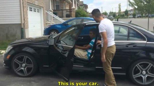 შვილმა მამას მანქანა აჩუქა, კაცი შოკშია